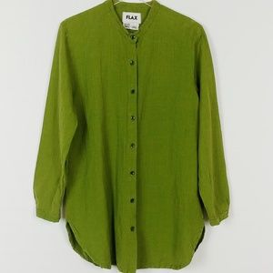Flax | Olive Green Button Down Shirt